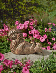 Squirrel with Acorn Statue