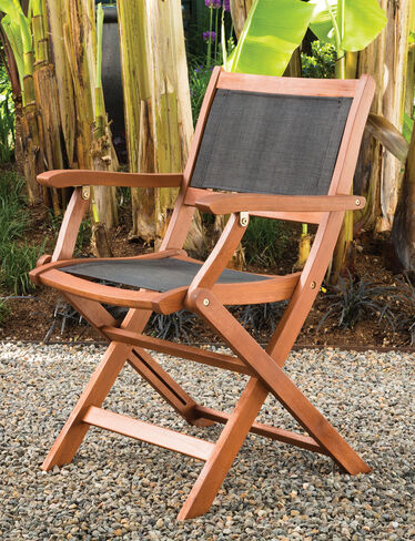 Sea Breeze Folding Armchairs, Set of 2