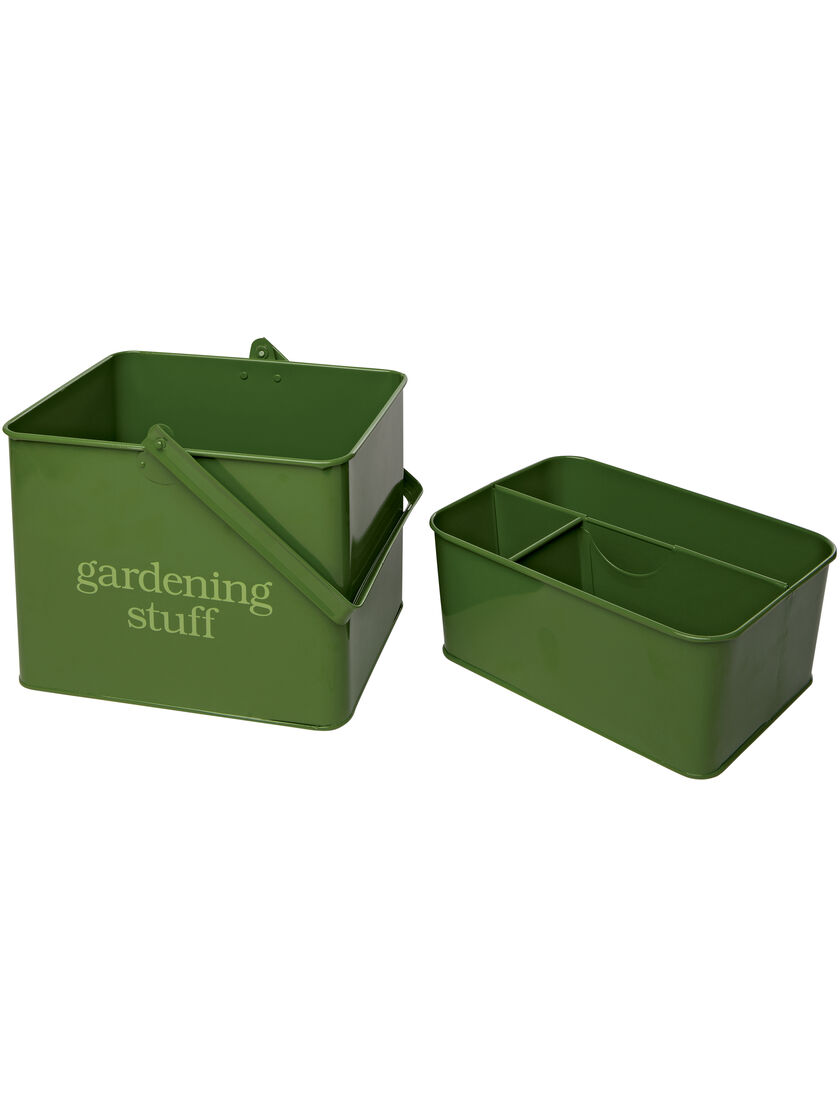 Garden Tool Caddy Green Metal Tool Caddy Gardenerscom