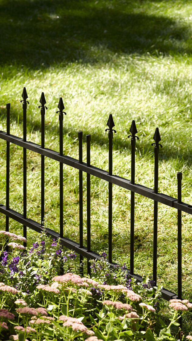 Decorative Fence Panel Resembles Wrought Iron 35