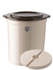 5-Gallon Stoneware Pickling Crock Complete Kit
