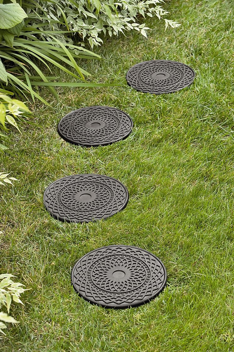 Decorative Rubber Stepping Stones Buy From Gardener S Supply