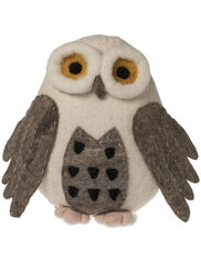 Owl Felted Wool Pillow