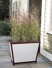 Galvanized Self-Watering Trough Planter, Tall