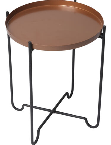 "Copper-Finish Plant Stand, 15"" x 20"""