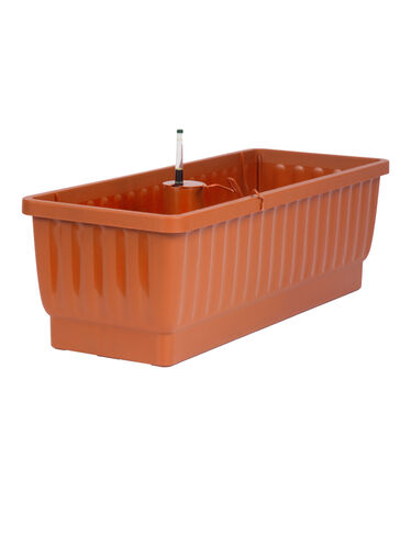 "23"" Self-Watering Windowbox, Terra Cotta"