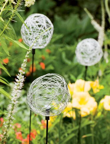 Wire Sphere Solar Garden Stake Gardeners Com
