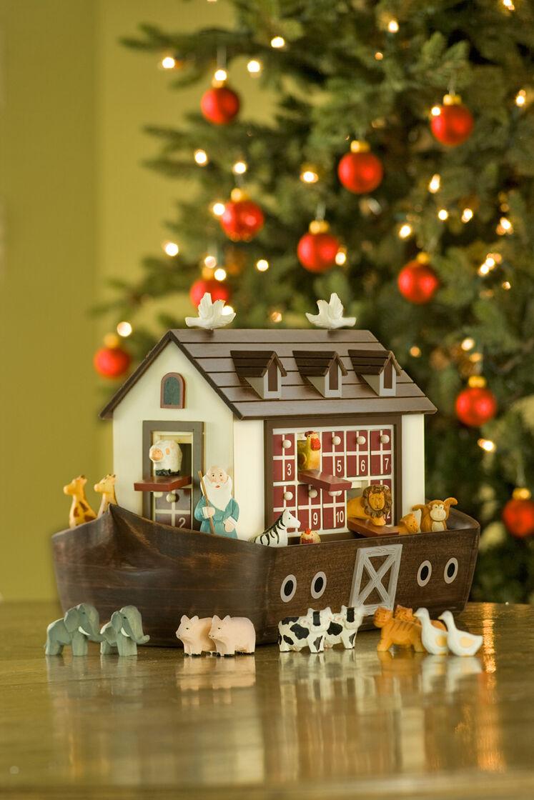noahs ark advent calendar wooden advent calendar