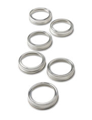 Vintage Preserve Canning Jar Screw Bands, Set of 12