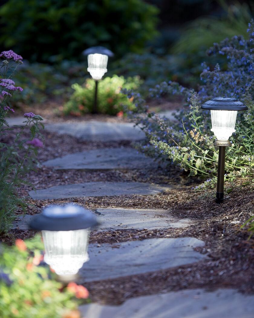 Solar Path Lights Set Of 2 Gardener S Supply Company