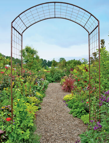 Rose trellis jardin rose arch gardener 39 s supply for Jardin roses