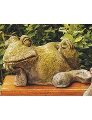 Gossip Frog Garden Statue