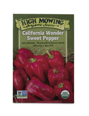 California Wonder Sweet Pepper Organic Seeds