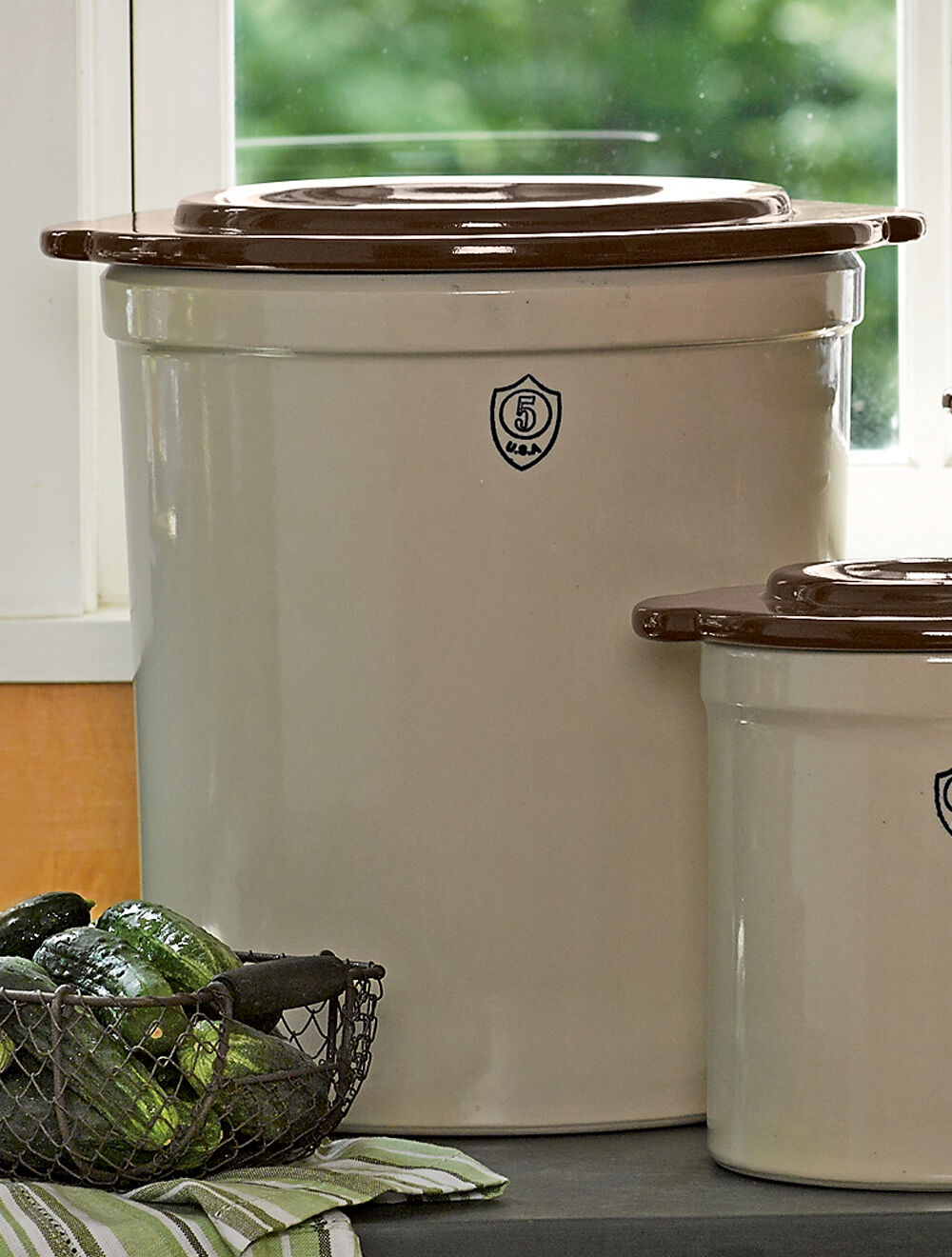 Rustic Compost Crock Metal Compost Pail Gardeners Com