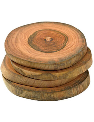 Teak Coasters, Set of 4