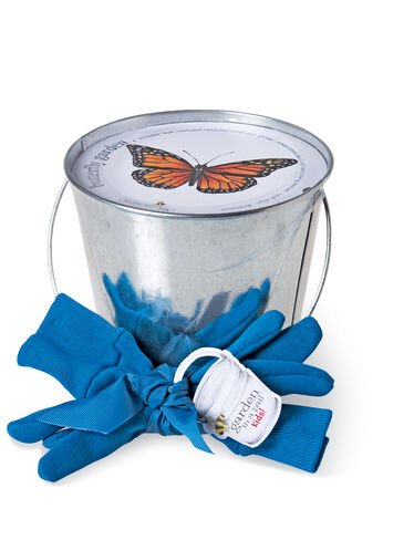 Gardening kits for kids butterfly garden in a pail for Gardening kit for toddlers