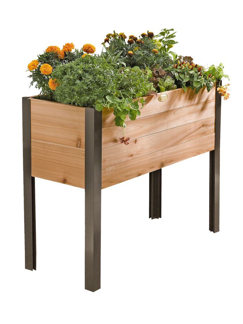 Elevated Garden Beds On Legs Elevated Planter Box Made