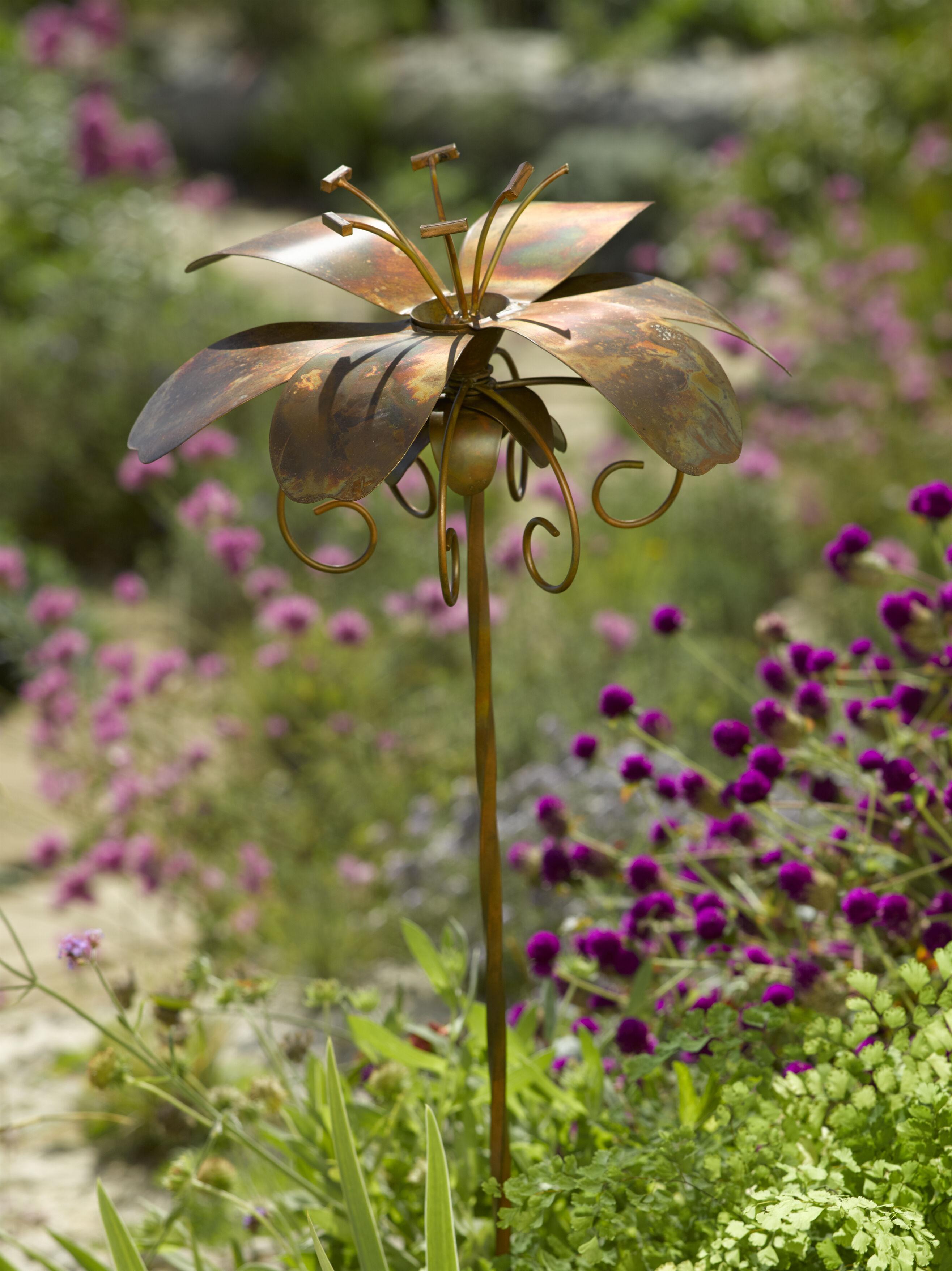 Metal Garden Flowers Outdoor Decor Home Design And
