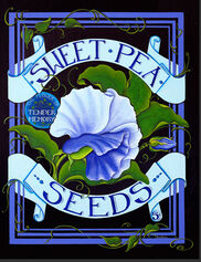 Sweet Pea Seed Pack Outdoor Art