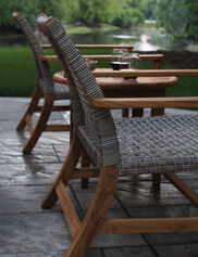 Teak and Wicker Lounge Chairs, Set of 2