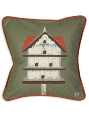 Birdhouse Throw Pillow, 18""
