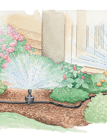 Landscape and Garden Sprinkler System