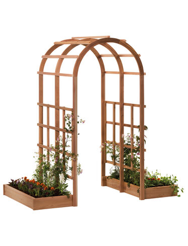Tunnel Arbor with Raised Beds