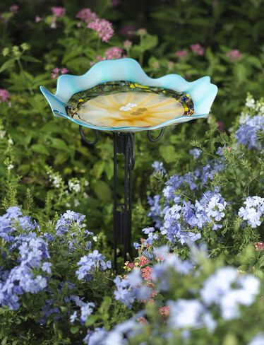 Art Glass Birdbath