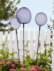 Globe Allium Stakes, Set of 3