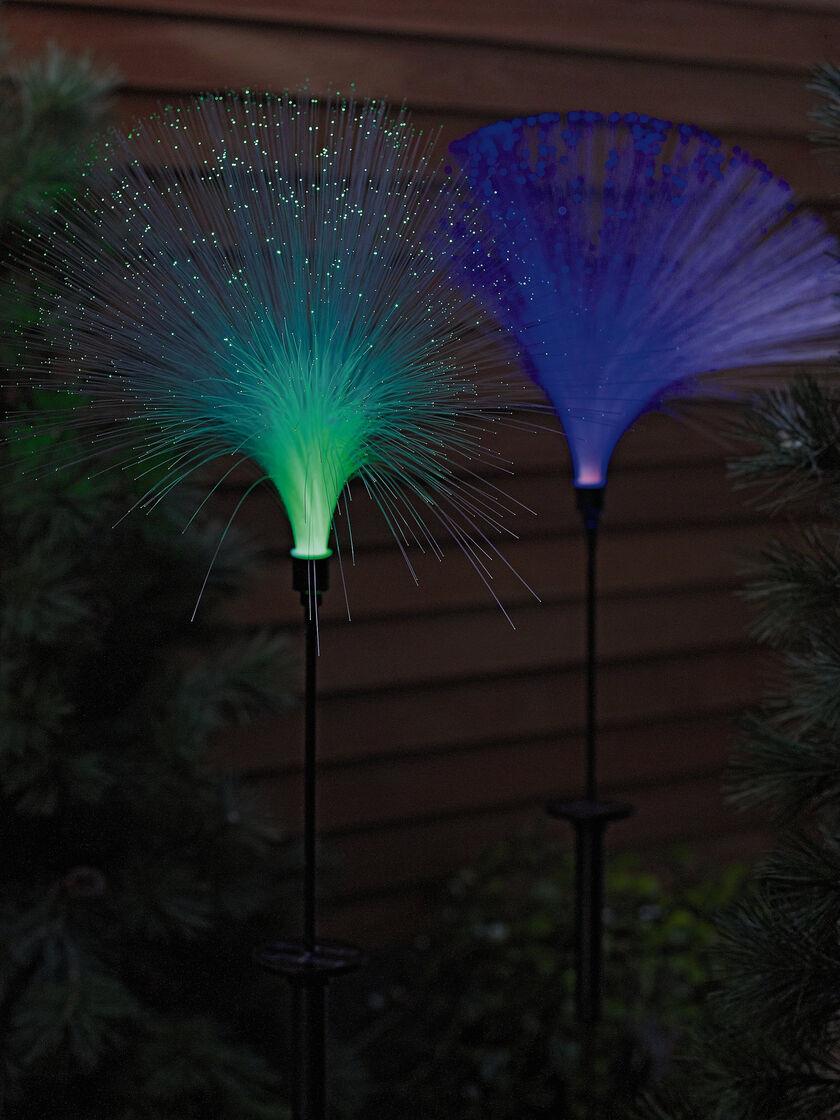 fiber optic solar light buy from gardener 39 s supply. Black Bedroom Furniture Sets. Home Design Ideas