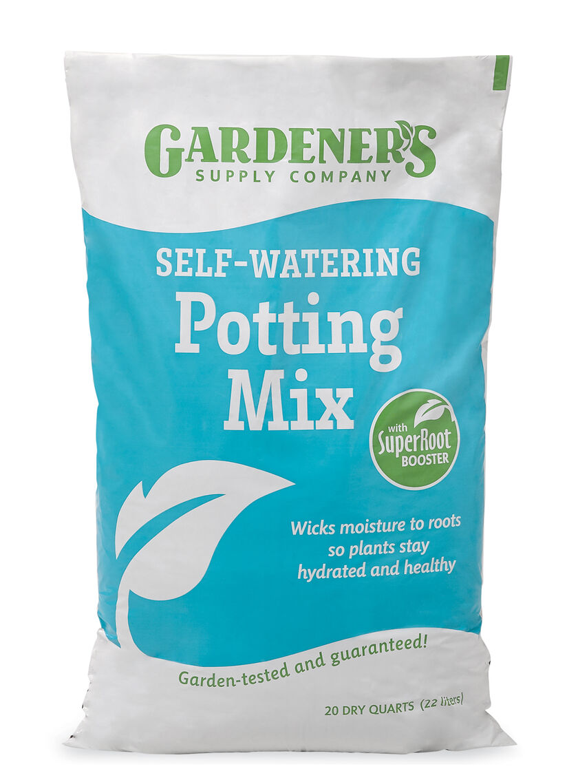 Self Watering Potting Soil Mix With Root Booster