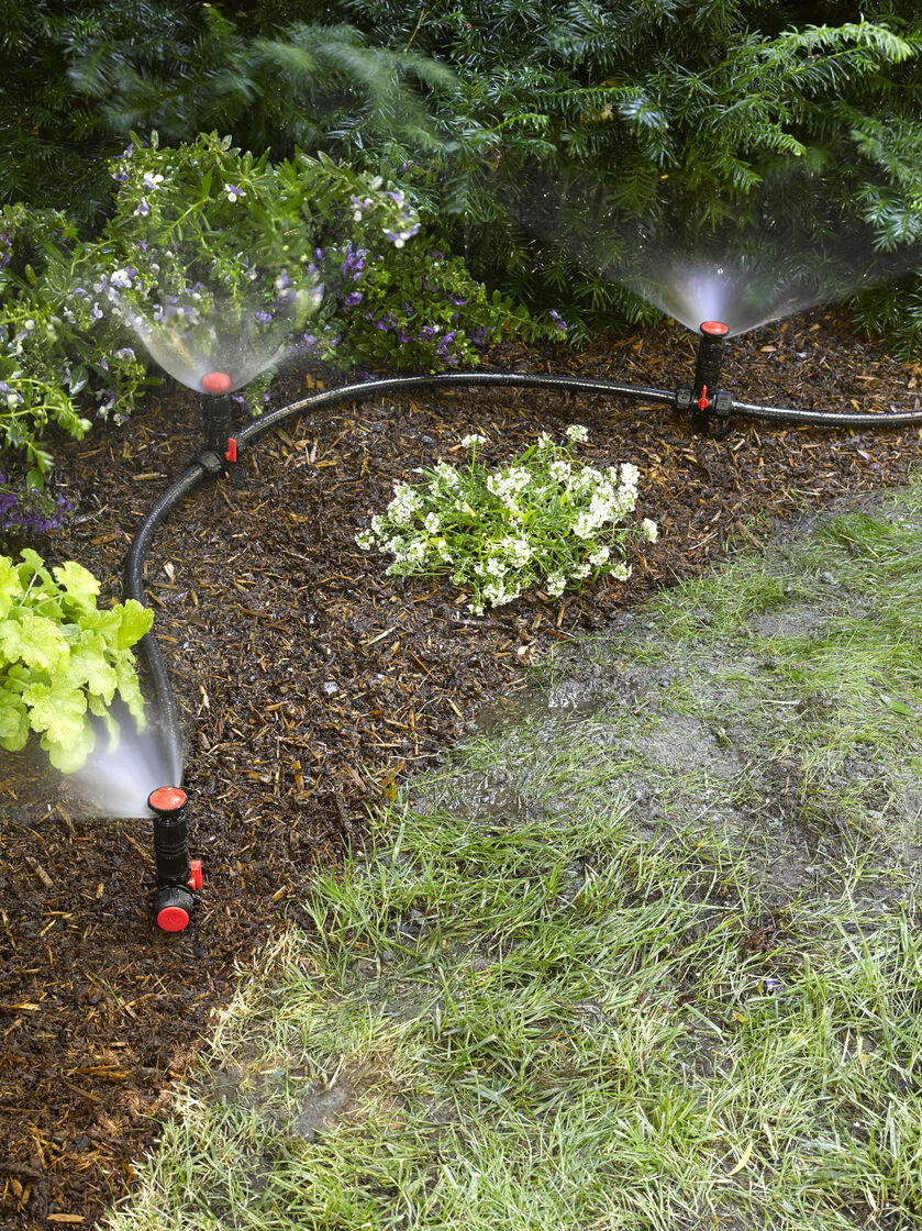 Above ground irrigation systems for landscaping diy for Home garden irrigation design