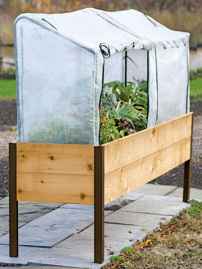 Cedar Planter Box Frame and 2 Covers Kit 2x8 Gardeners Supply