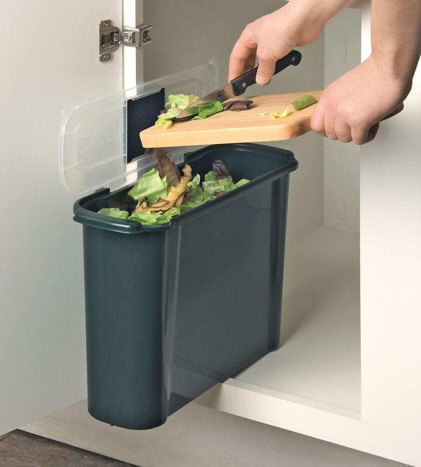 Slimline compost caddy kitchen compost crock gardener 39 s supply - Petit composteur de cuisine ...