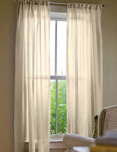 "Sheer Insulated Curtain, 84"" L x 50"" W"