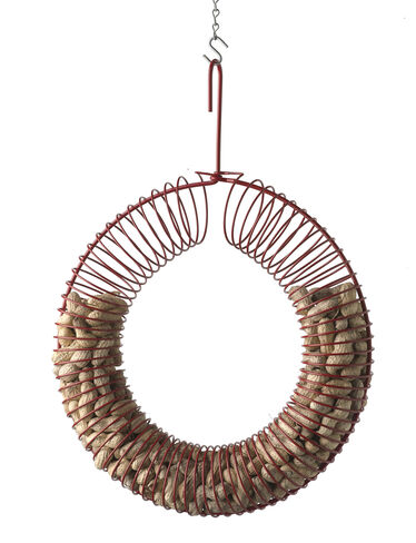 Peanut Wreath with Peanuts, Red