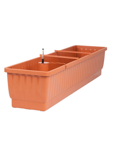 "39"" Self-Watering Windowbox, Terra Cotta"