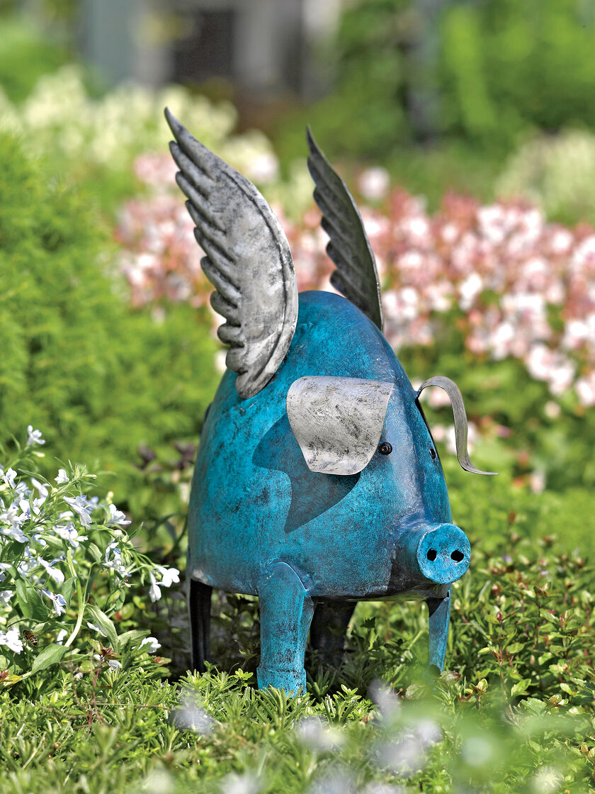 Pig lawn ornament - Flying Pig