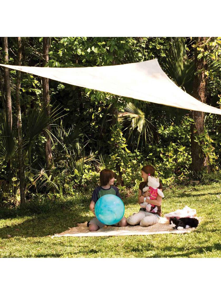 Coolaroo Triangle Shade Sail Ready To Hang For Garden