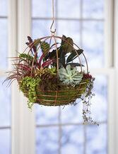 Copper Wire Globe Hanging Basket