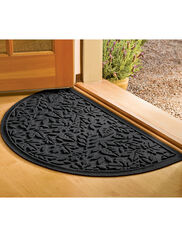"Fall Leaves Water Glutton Half-Round Mat, 24"" x 39"""