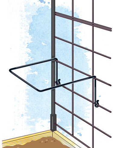 Support Rings for Pivoting Trellis, Set of 5