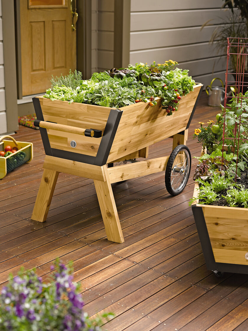Rolling Elevated Planter Box U Garden Raised Planter Gardenerscom