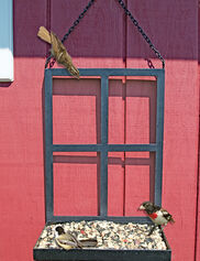 Window Frame Platform Bird Feeder