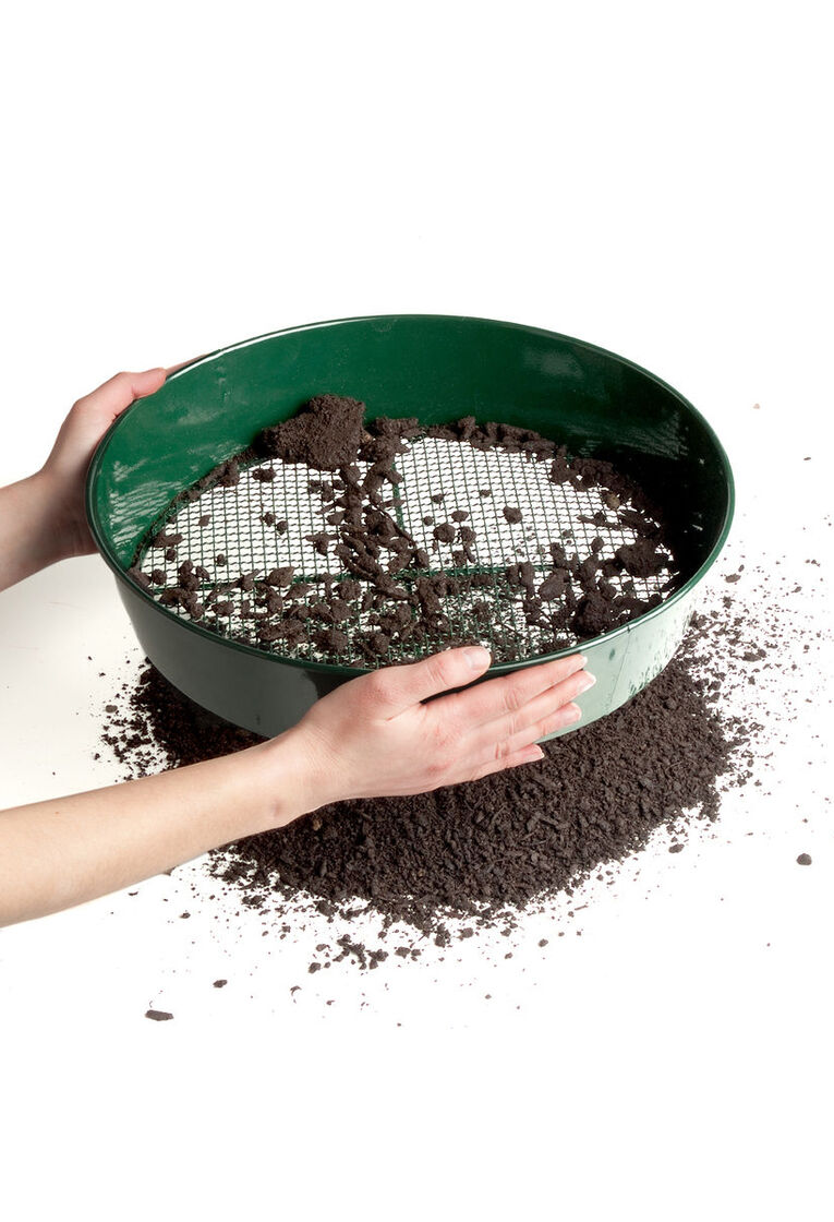 Soil sifter rugged steel compost sieve for Uses of soil in daily life