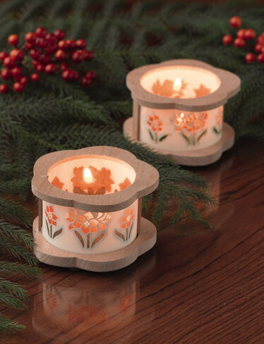 Holiday Tea Light Holders, Set of 2