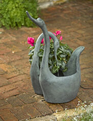 Swan Fountain Planter