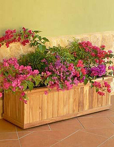 "Teak Trough Planter, 16"" x 48 Raised Bed, Raised Garden Bed, Garden Bed, Raised Garden, Container Gardening, Garden Containers"