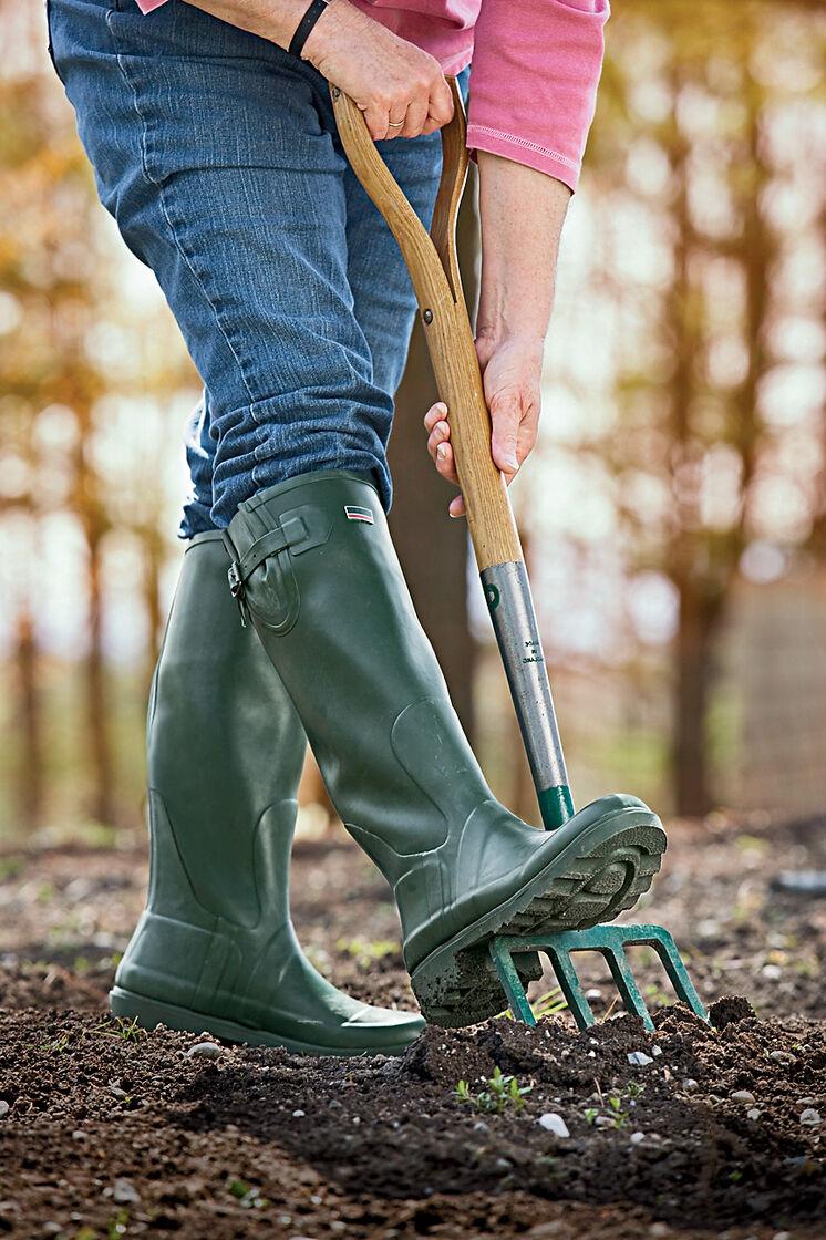 Hunter Garden Boots Clog Navy Red Chestnut