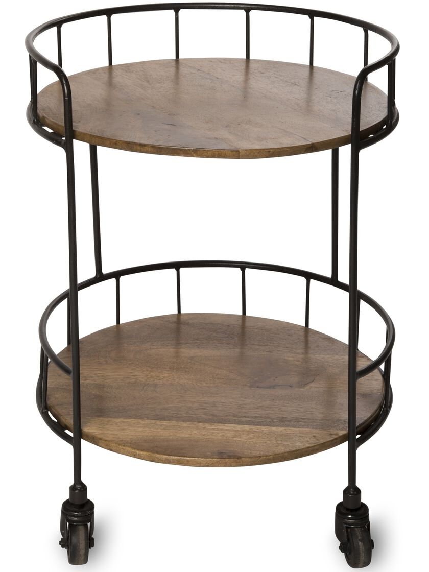 Rustic Side Table Astoria Rolling Accent Table
